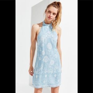 Urban Outfitters Catalina Print Halter Dress